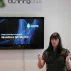 Claire Dunning delivering a workshop in the Dunning DNA Lab
